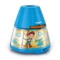 Philips 71769/05/16 - Lampada da tavolo e proiettore per bambini DISNEY JAKE PIRATA 1xLED/0,1W/3xAA