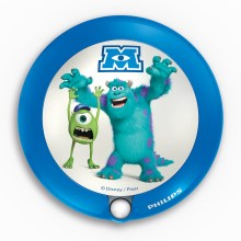 Philips 71771/55/16 - Lampada di orientamento LED per bambini DISNEY MONSTERS 1xLED/0,06W