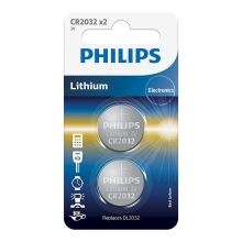 Philips CR2032P2/01B - 2 pz Batteria a bottone al litio CR2032 MINICELLS 3V