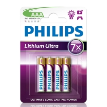 Philips FR03LB4A/10 - 4 pz Batteria al litio AAA LITHIUM ULTRA 1,5V