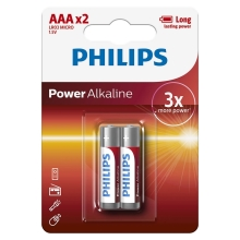 Philips LR03P2B/10 - 2 pz Batteria alcalina AAA POWER ALKALINE 1,5V