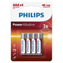 Philips LR03P4B/10 - 4 pz Batteria alcalina AAA POWER ALKALINE 1,5V
