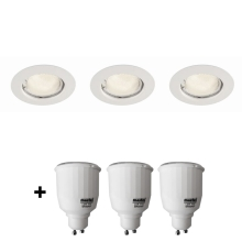 Philips Massive 59383/31/19 - KIT 3x Faretto da incasso + 3x lamp 7W