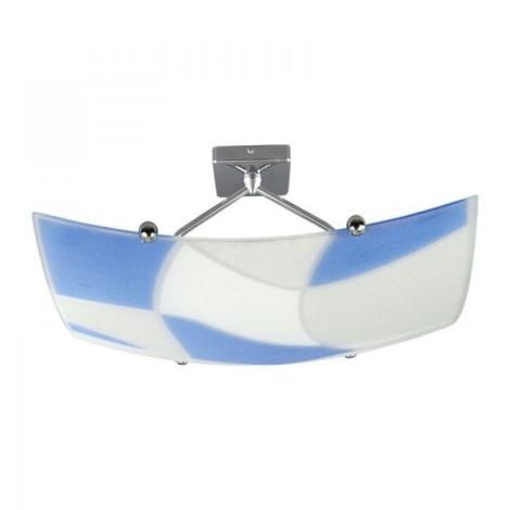 Plafoniera Aspis 100w Bianco blu 2xe27 230v MpjzGSLqUV