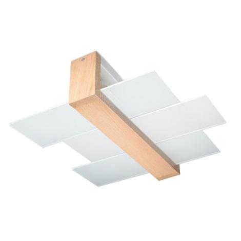 Plafoniera FENIKS 2 2xE27/60W/230V legno naturale