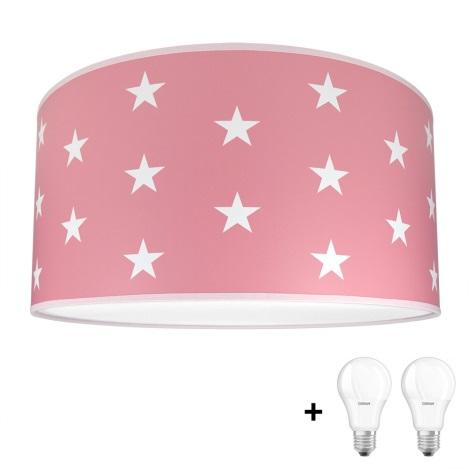 Per Pink 9w Plafoniera Bambini 2xe27 230v Led Stars zGqMSVULp