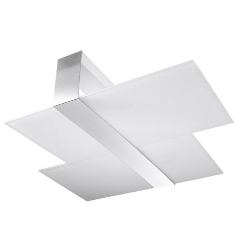 Plafoniera MASSIMO 2xE27/60W/230V bianco/cromo