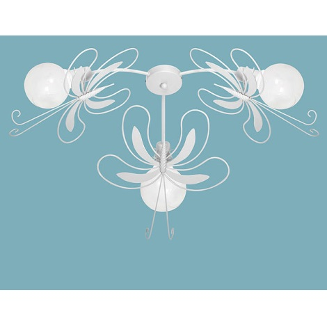 Per Bambini Plafoniera Farfalla Bianco 3xe27 60w vYfb76gy