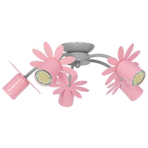 Rosa 40w Fiore Plafoniera Per 230v Bambini 5xgu10 H9E2DI