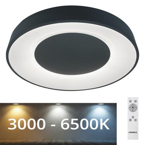 Rabalux - Plafoniera LED dimmerabile LED/38W/230V nera + TC 3000-6500K