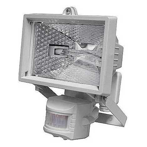 Bianco Da Sensore T254 Con Riflettore 150w Pir 78mm Esterno 1xr7s lcKJF1