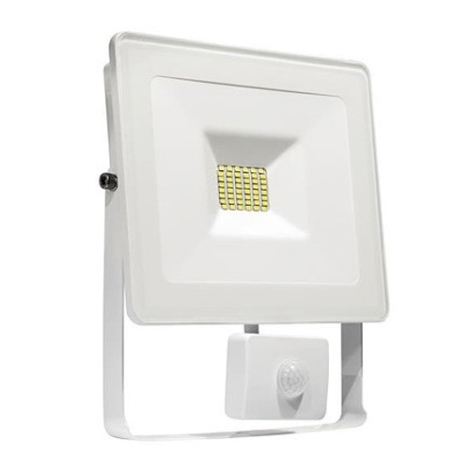 Ip44 20w Led Led Riflettore 230v Bianco Noctis Con Sensore Lux A45jLR