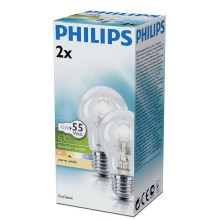 SET 2x Lampadina alogena dimmerabile E27/42W/230V - Philips