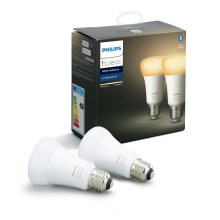 SET 2x Lampadina LED dimmerabile Philips HUE WHITE AMBIANCE 1xE27/8,5W/230V
