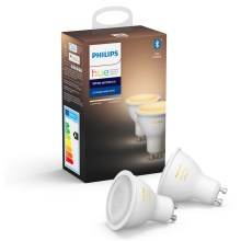 SET 2x Lampadina LED dimmerabile Philips HUE WHITE AMBIANCE GU10/5,5W/230V 2200-6500K