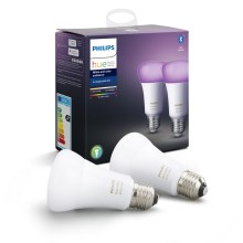 SET 2x Lampadina LED dimmerabile Philips HUE WHITE AND COLOR AMBIANCE E27/9W/230V