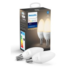 SET 2x Lampadina LED dimmerabile Philips HUE WHITE E14/5,5W/230V 2700K
