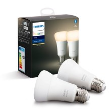 SET 2x Lampadina LED dimmerabile Philips HUE WHITE E27/9W/230V