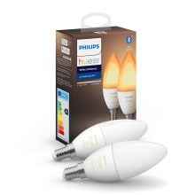 SET 2x Lampadine LED dimmerabile Philips HUE WHITE AMBIANCE B39 E14/5,2W/230V 2200K - 6500K