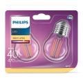 SET 2xLampadina LED VINTAGE E27/4W/230V 2700K - Philips
