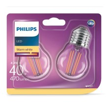 SET 2xLampadina LED VINTAGE E27/4W/230V 2700K - Philips