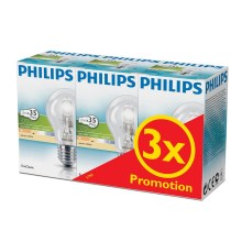 SET 3x Lampadina alogena dimmerabile E27/28W/230V - Philips
