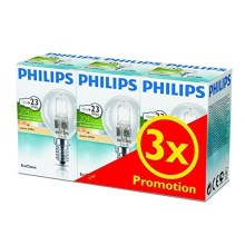 SET 3x Lampadina alogena dimmerabile Philips E14/18W/230V