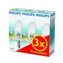SET 3x Lampadina alogena dimmerabile Philips E14/28W/230V