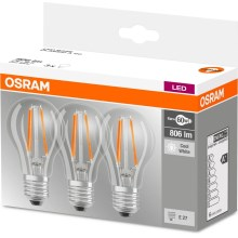 SET 3x Lampadina LED BASE E27/6W/230V 4000K – Osram