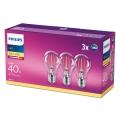 SET 3x Lampadina LED Philips E27/4,3W/230V 2700K