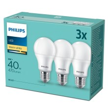 SET 3x Lampadina LED Philips E27/6W/230V 2700K