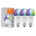 SET 3x Lampadina LED RGB dimmerabile SMART+ E27/9,5W/230V 2700K-6500K Wi-Fi - Ledvance