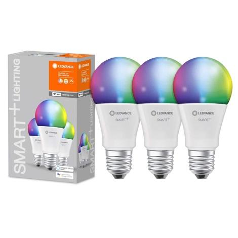 SET 3x Lampadina LED RGB dimmerabile SMART+ E27/9W/230V 2700K-6500K Wi-Fi - Ledvance