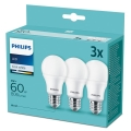 SET 3xLampadine LED Philips A60 E27/9W/230V 4000K
