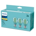 SET 3xLampadine LED Philips E27/8,5W/230V 2700K