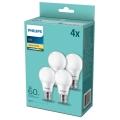 SET 4x Lampadina LED Philips E27/8W/230V 2700K