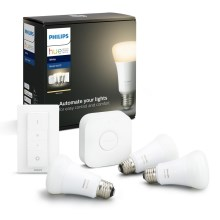 Set di base Philips HUE STARTER KIT 3xE27/9W + dispositivo di interconnessione