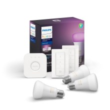 Set di base Philips HUE WHITE AND COLOR AMBIANCE 3xE27/9W/230V