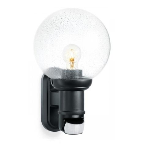 Lampada 634216L Sensore Nera Steinel Per Da S Parete 560 Con Esterno HD2E9I