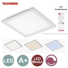 Telefunken by Briloner - Pannello LED dimmerabile 1xLED/18W/230V + telecomando