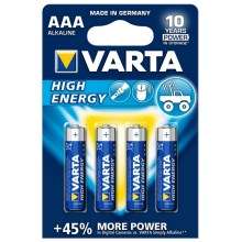 Varta 4903 - 4 pz batteria alcalina HIGH ENERGY AAA 1,5V